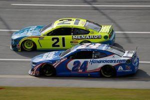 Matt DiBenedetto, Wood Brothers Racing, Ford Mustang Menards / Tuscany, William Byron, Hendrick Motorsports, Chevrolet Camaro Hendrickcars.com