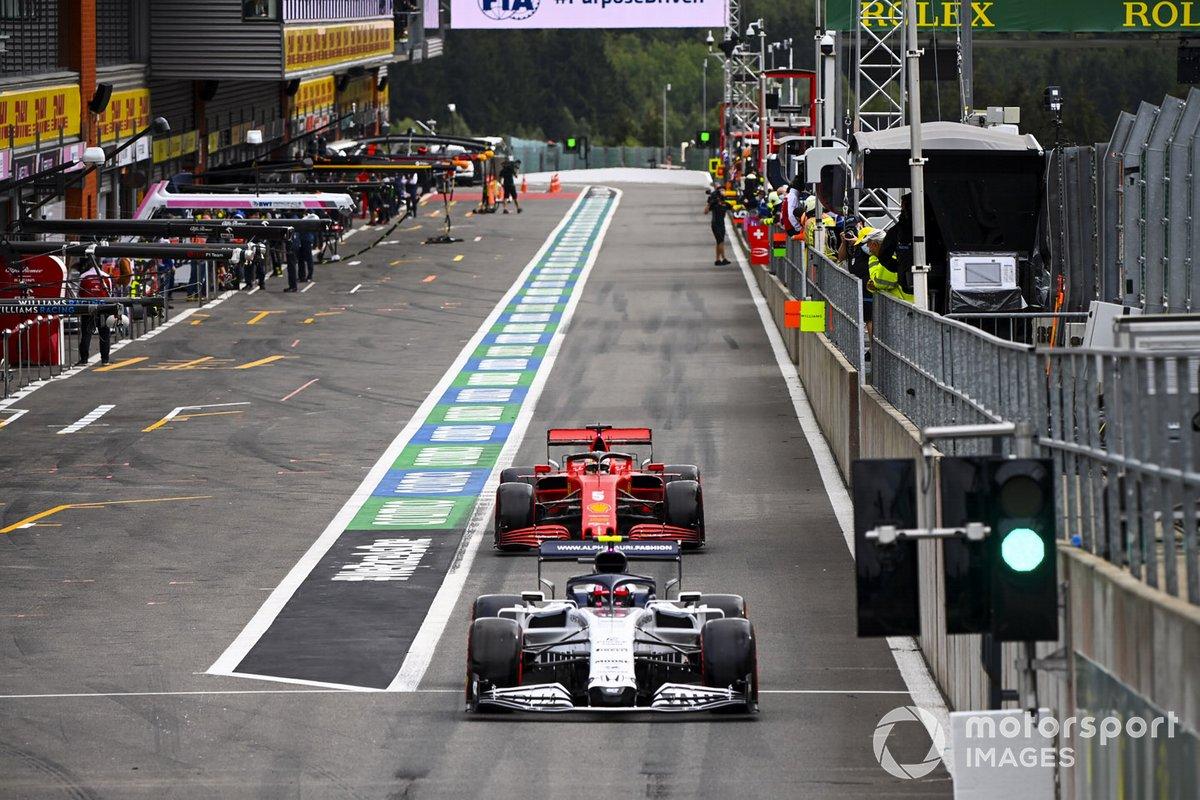 Pierre Gasly, AlphaTauri AT01, Sebastian Vettel, Ferrari SF1000,