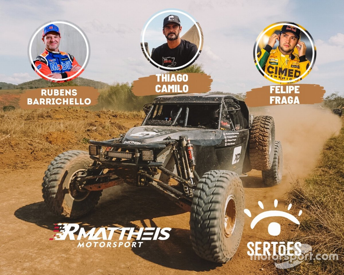 Barrichello, Camilo e Fraga vão correr Sertões 2020