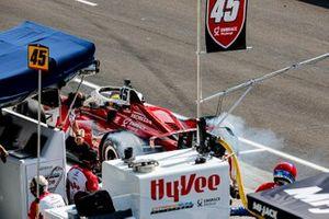 Spencer Pigot, Rahal Letterman Lanigan Racing w/ Citrone/Buhl Autosport Honda pit stop