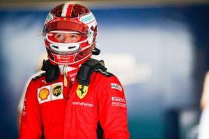Charles Leclerc, Ferrari, in Parc Ferme