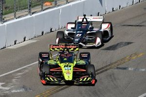 Santino Ferrucci, Dale Coyne Racing with Vasser Sullivan Honda, Rinus VeeKay, Ed Carpenter Racing Chevrolet
