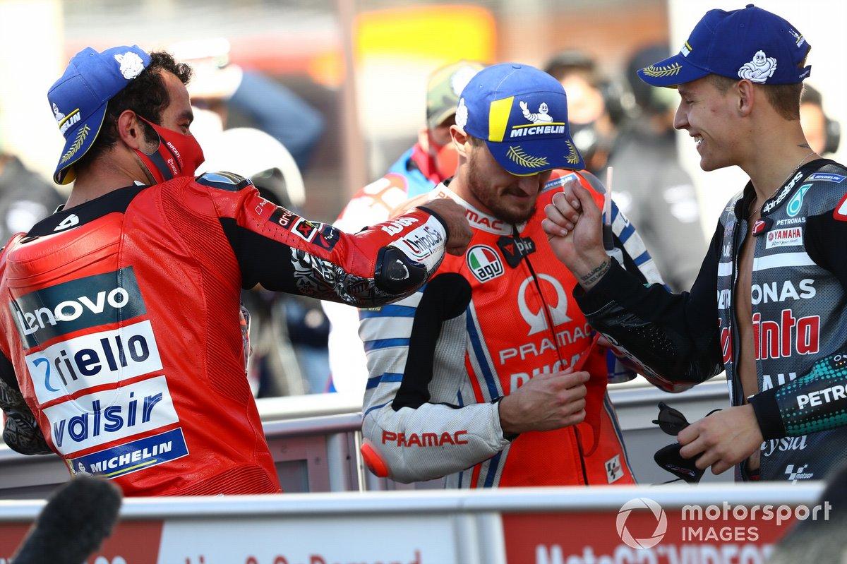 Danilo Petrucci, Ducati Team Jack Miller, Pramac Racing Fabio Quartararo, Petronas Yamaha SRT