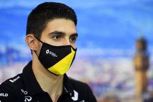 Esteban Ocon, Renault F1 in the press conference