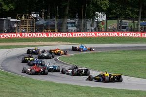 Scott Dixon, Chip Ganassi Racing Honda, Ryan Hunter-Reay, Andretti Autosport Honda, start