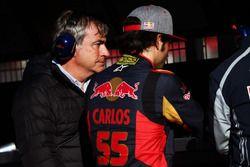 Carlos Sainz, avec son fils Carlos Sainz Jr., Scuderia Toro Rosso