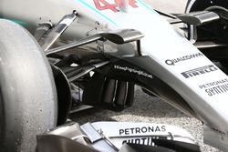 Detail vordere Radaufhängung, mit Hashtag #KeepFightingMichael, FrontLewis Hamilton, Mercedes AMG F1