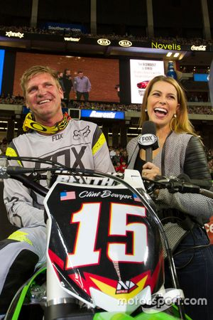 Clint Bowyer with Jenny Taft