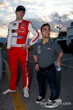 Ryan Blaney, Wood Brothers Racing Ford et Rico Abreu, ThorSport Racing Toyota