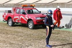 max Verstappen, Scuderia Toro Rosso stopped on the circuit