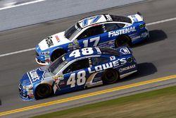 Jimmie Johnson, Hendrick Motorsports Chevrolet, Ricky Stenhouse Jr., Roush Fenway Racing Ford