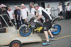 Tito Rabat, Marc VDS Racing Honda bike after the crash
