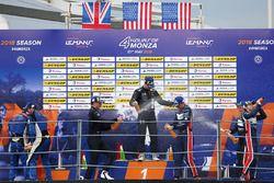 LMP3 Podium: winners #11 Eurointernational Ligier JS P3 - Nissan: Giorgio Mondini, Kay Van Berlo, second place #6 360 Racing Ligier JS P3 - Nissan: Terrence Woodward, Ross Kaiser, James Swift, third place #3 United Autosports Ligier JS P3 - Nissan: Anthony Wells, Garret Grist, Matthew Bell