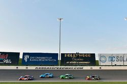 Denny Hamlin, Joe Gibbs Racing, Toyota Camry FedEx Freight, Aric Almirola, Stewart-Haas Racing, Ford Fusion Smithfield, Kyle Larson, Chip Ganassi Racing, Chevrolet Camaro Clover and Martin Truex Jr., Furniture Row Racing, Toyota Camry 5-hour ENERGY/Bass Pro Shops