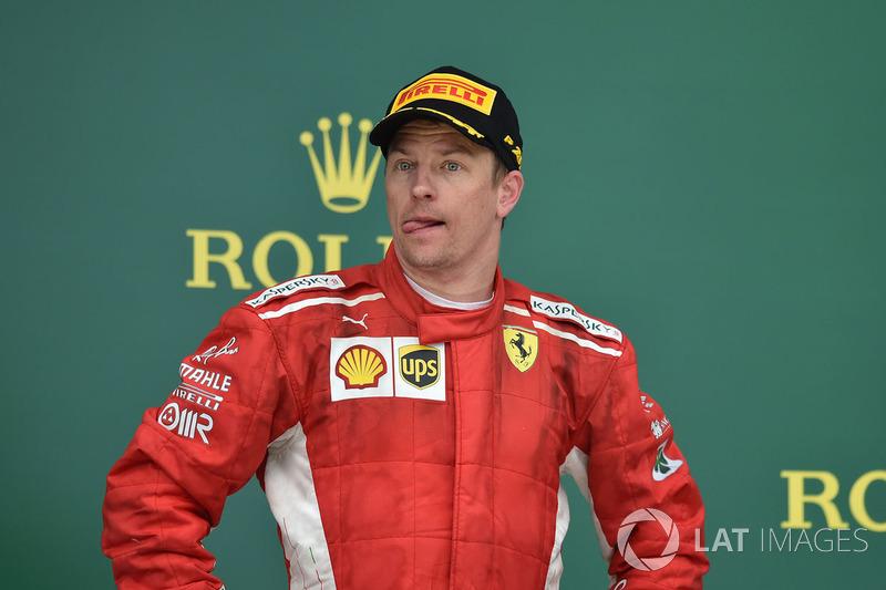 Kimi Raikkonen foi o segundo colocado.