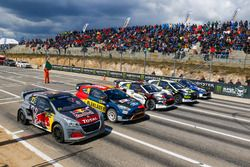 Timmy Hansen, Team Peugeot Total, Kevin Eriksson, Olsbergs MSE, Niclas Gronholm, GRX Taneco, Timur Timerzyanov, GRX Taneco, Petter Solberg, PSRX Volkswagen Sweden
