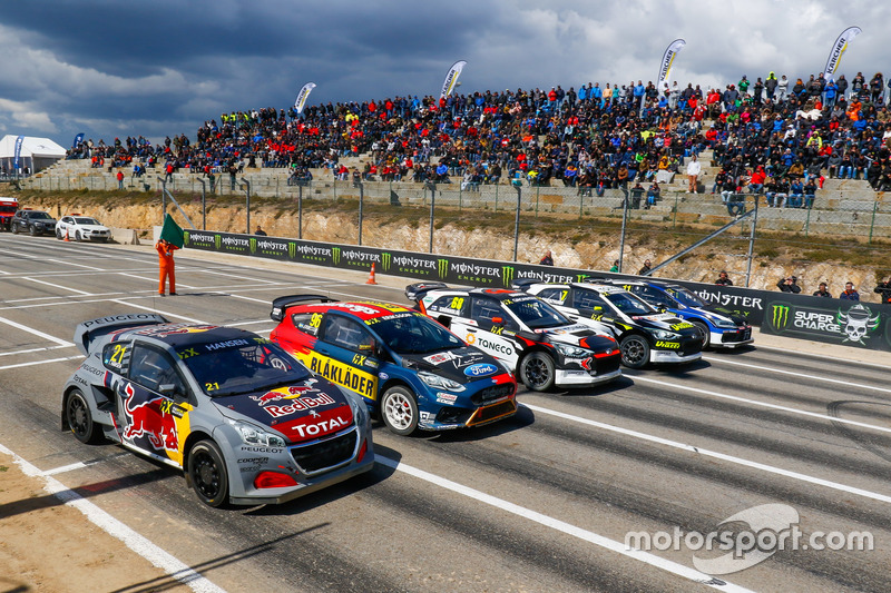 Timmy Hansen, Team Peugeot Total, Kevin Eriksson, Olsbergs MSE, Niclas Gronholm, GRX Taneco, Timur Timerzyanov, GRX Taneco, Petter Solberg, PSRX Volkswagen Sweden