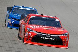 Kyle Busch, Joe Gibbs Racing, Toyota Camry Maltesers and Elliott Sadler, JR Motorsports, Chevrolet C