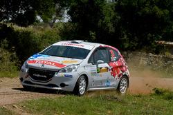 Gianluca Saresera, Daniel Taufer, Peugeot 208 R2, Leonessa Corse