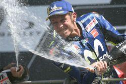 Podio: il terzo classificato Valentino Rossi, Yamaha Factory Racing