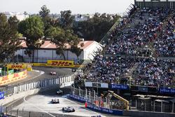 Edoardo Mortara, Venturi Formula E Team & Maro Engel, Venturi Formula E Team, with Felix Rosenqvist, Mahindra Racing