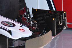 Sauber C37, dettaglio dell'ala posteriore
