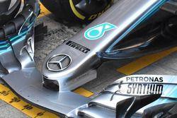 Mercedes AMG F1 W09, dettaglio del naso