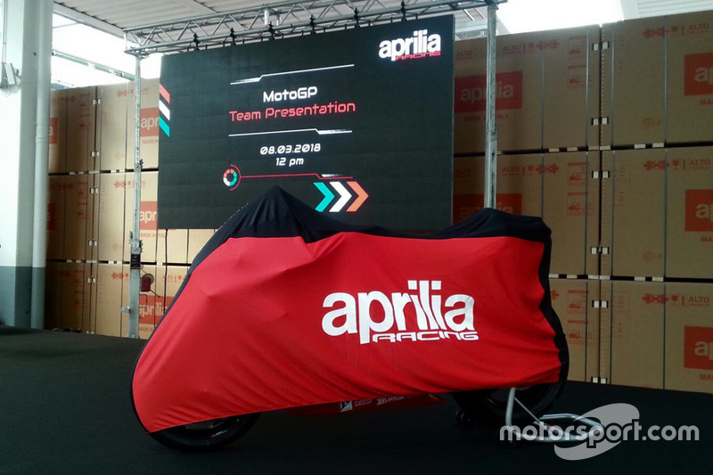 Launching Aprilia Racing Team