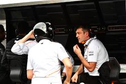 Le muret des stands McLaren