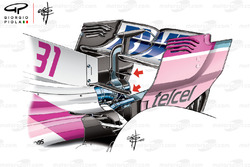 Force India VJM11, ala anteriore