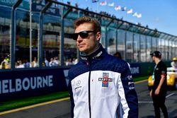 Sergey Sirotkin, Williams en el desfile de pilotos