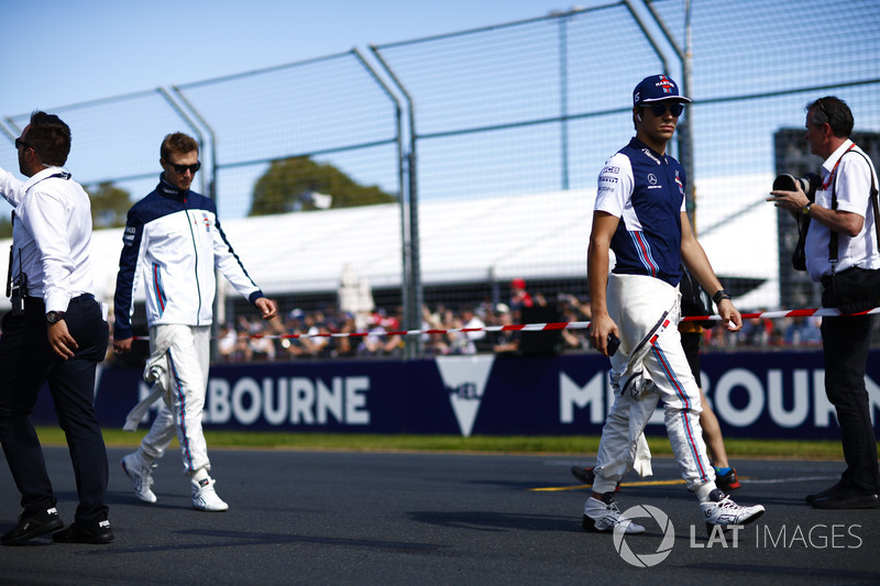 Lance Stroll, Williams Racing, y Sergey Sirotkin, Williams Racing
