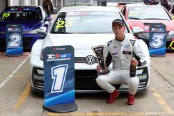 Race 2 winner Dan Lloyd, West Coast Racing VW Golf