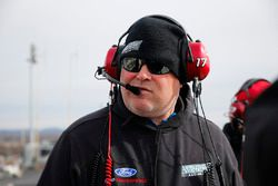 Ricky Stenhouse Jr., Roush Fenway Racing, Ford Fusion Fastenal spotter Mike Herman on the spotter's stand