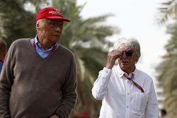 Niki Lauda, Mercedes AMG F1 y Bernie Ecclestone