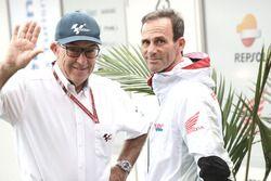 Carmelo Ezpeleta, CEO Dorna Sports, Alberto Puig, Team Principal Repsol Honda Team