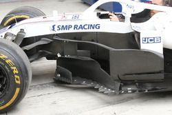 Williams FW41, dettaglio della fiancata