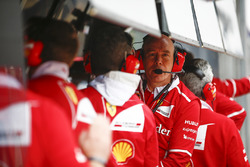 Jock Clear, Engineering Director, Ferrari, on the pit wall
