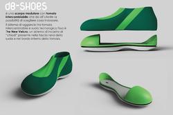 Il progetto vincitore, la scarpa per il piede diabetico DB Shoes, progetto di Carmen Ianiro, studentessa dell'ISIA di Pescara.