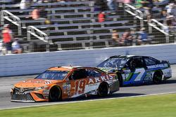 Daniel Suarez, Joe Gibbs Racing Toyota and Joey Gase, Tommy Baldwin Racing Chevrolet
