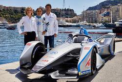 Susie Wolff Directora del equipo Venturi Formula E Team, Felipe Massa, Venturi Formula E Team, Gildo Pallanca Pastor, dueño de Venturi Formula E Team