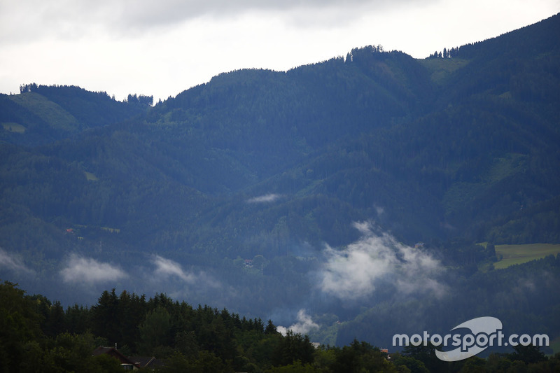 Une vue du paysage entourant le circuit de Spielberg