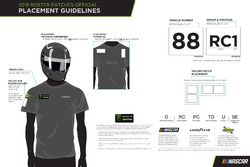 NASCAR roster patch placement guide