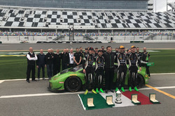 The all Lamborghini Squadra Corse team after the 24 Hours of Daytona