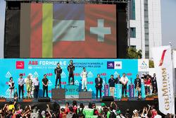 Podyum: Yarış galibi Jean-Eric Vergne, Techeetah, 2. sıra Andre Lotterer, Techeetah, 3. sıra Sébasti