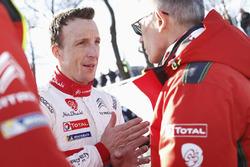 Kris Meeke, Citroën World Rally Team, et Carlos Tavares, président de PSA