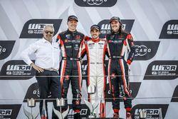 Podyum: Yarışın kazananı Aurélien Comte, DG Sport Competition Peugeot 308TCR, ikinci Yann Ehrlacher, ALL-INKL.COM Münnich Motorsport Honda Civic Type R TCR, üçüncü James Thompson, ALL-INKL.COM Münnich Motorsport Honda Civic Type R TCR