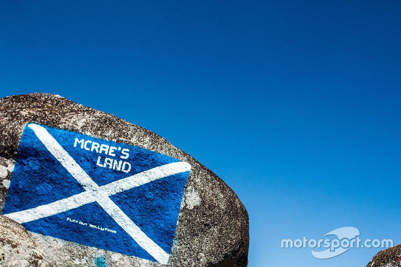Bandera de Escocia en homenaje a Colin McRae