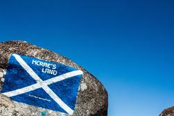 Bandiera della Scoziain omaggio a Colin McRae