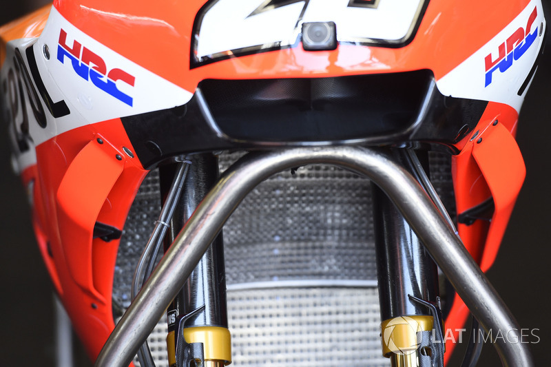 Wings on the bike of Dani Pedrosa, Repsol Honda Team